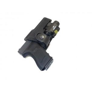 FOBUS Holster Paddle rotatif pour Glock 17/19 + lampe