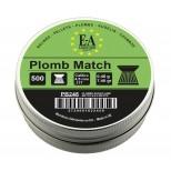 Plombs match Europ-Arm 4,5 mm. - tête plate