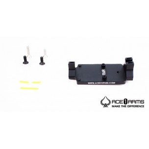 ACE 1 ARMS Fiber Back Up Sight Base Marui / WE M1911 Gbb