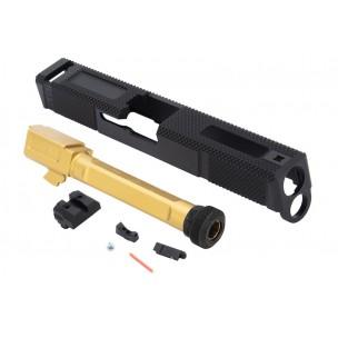 EMG SAI Utility Slide Kit - Gold Barrel pour Umarex Glock 17 GBB