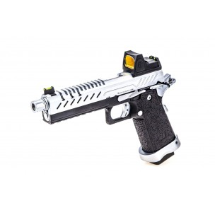 GBB GAZ HI-CAPA 5.1 NOIR / CHROME 1,0J + POINT ROUGE BDS