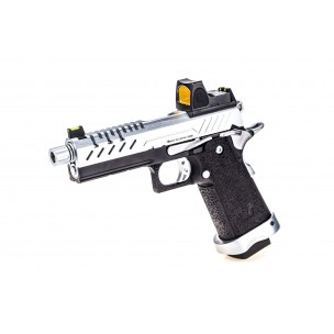 GBB GAZ HI-CAPA 4.3 NOIR / CHROME 0,9J + POINT ROUGE BDS