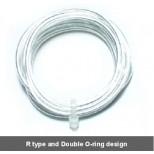 Câble électrique argent