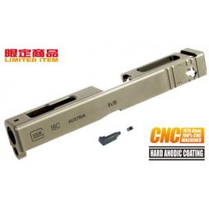 7075 CNC Slide for TM GLOCK-18C (TAN)